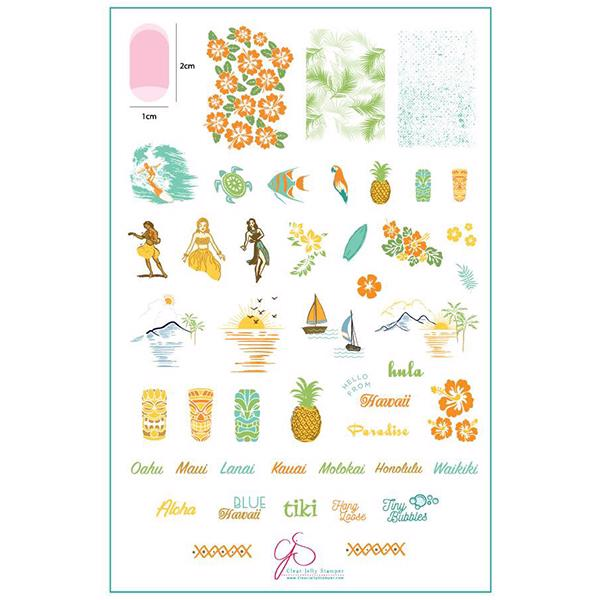 Image of Aloha! (CjS-128) - Stampingplade, Clear Jelly Stamper