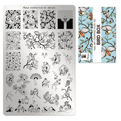 Bird Box Stamping Plade NO. 100, Moyra