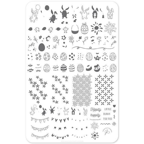 Image of Bunny Foo Foo (CjSH-31) - Stampingplade, Clear Jelly Stamper