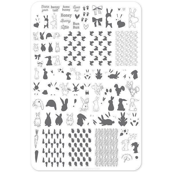 Honey Bunny (CJSH-33) - Stampingplade, Clear Jelly Stamping