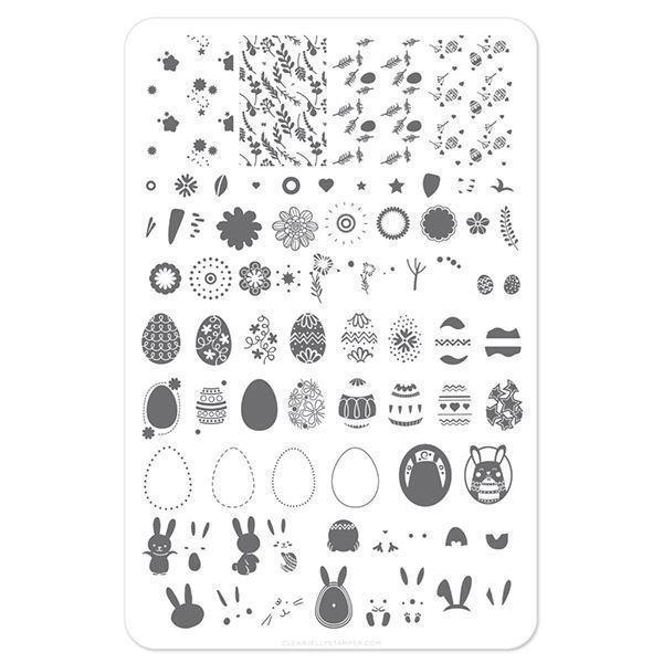 Image of Bunny kinz (CjSH-11) - Stampingplade, Clear Jelly Stamper