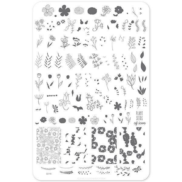 Blossomning Romance (CjsV-18) - Stampingplade, Clear Jelly Stamper