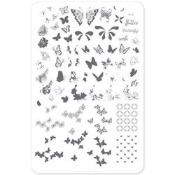 Butterfly Wishes (CjS-80) Stampingplade, Clear Jelly Stamper