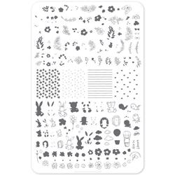 Life In Bloom (CjS-97), Stampingplade, Clear Jelly Stamper
