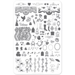 Suzie's Victorian Plate (CjS LC-45) - Stampingplade, Clear Jelly Stamper