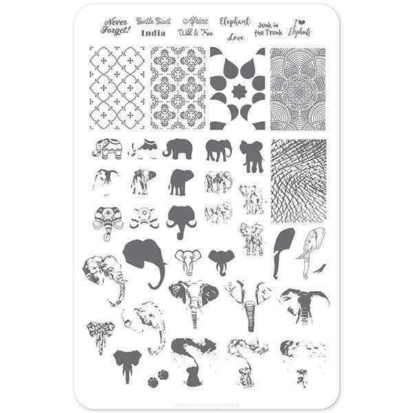 Image of   Everything Elephant (CjS LC-44) Stampingplade, Clear Jelly Stamper