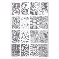 Texture Essentials - Wild Kingdom (CjS-77) - Stampingplade, Clear Jelly Stamper