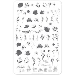 Watercolour Garden (CjS-81) Stampingplade, Clear jelly stamper