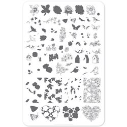 Delicate Garden (CjS-58) - Stampingplade, Clear Jelly Stamper