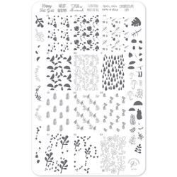 Fallpaper - Happy Fall Yall (CjS-133) Stampingplade, Clear Jelly Stamper