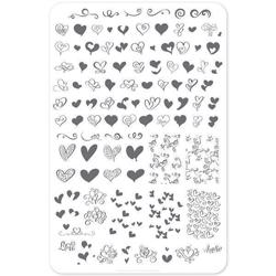 Flirty Flourish (CjSV-11) - Stampingplade, Clear Jelly Stamper