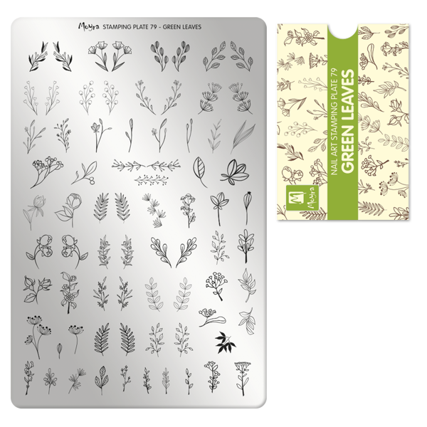 Image of Green leaves, NO. 79, Moyra Stamping Plade