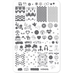 Hippie Harmony (CjS-117) - Stampingplade, Clear Jelly Stamper