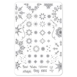 Let it Snow (CjSC-18), stampingplade, Clear Jelly Stamper