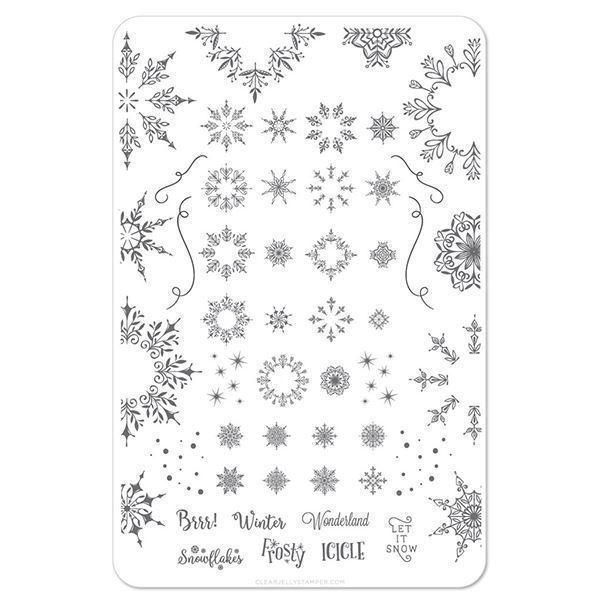 Image of   Let it Snow (CjSC-18), stampingplade, Clear Jelly Stamper