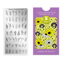 Garden of delight, MINI Stamping Plade NO. 123, Moyra