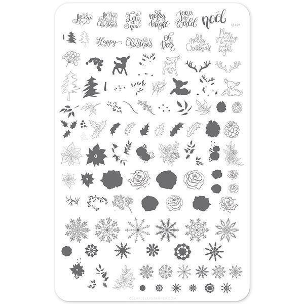 Image of   Merry Christmas My Deer (CjS C-19), stampingplade, Clear Jelly Stamper