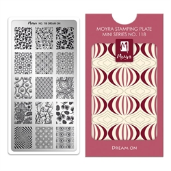 Dream On, MINI Stamping Plade NO. 118, Moyra