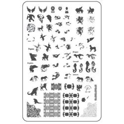 Mythical Creatures (CjS-107) - Stampingplade, Clear Jelly Stamper (u)