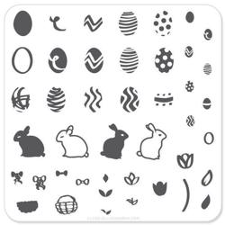 Peter Cottontails Easter Eggs (CjSH-02), stampingplade, Clear Jelly Stamper