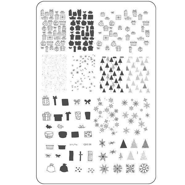 Image of Pretty Paper - Gifted (CjS C-26), stampingplade, Clear Jelly Stamper