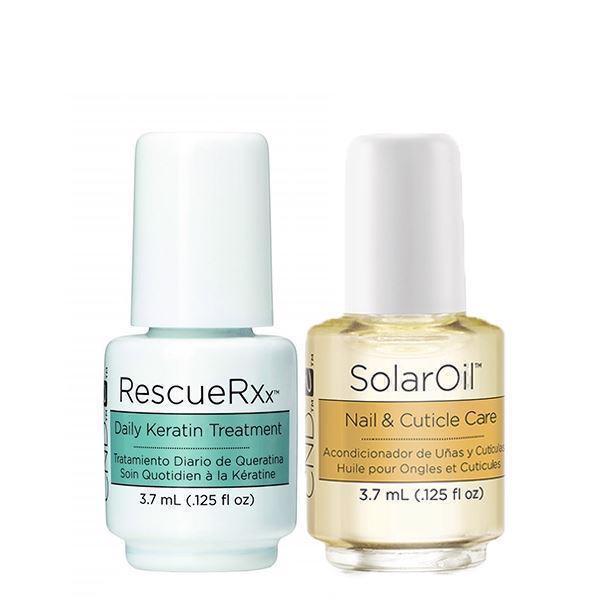 Image of CND Rescue RXx Daily Keratin Treatment + Solaroil 3,7 ml
