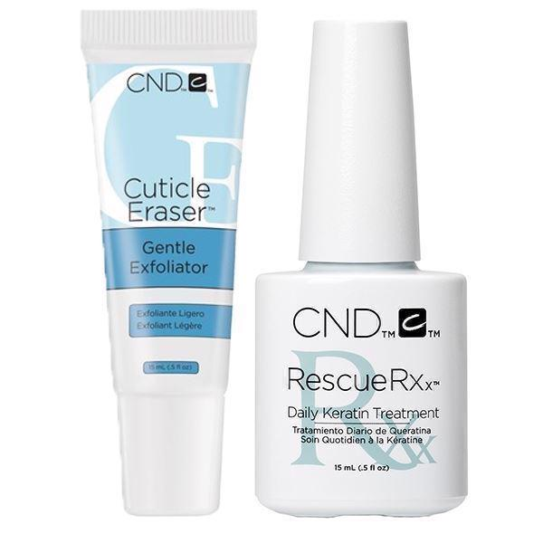 Image of CND Rescue RXx Daily Keratin Treatment + Cuticle Eraser 15 ml