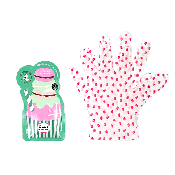 Image of   Hand Mask Jasmine Green Tea, Le Mini Macaron