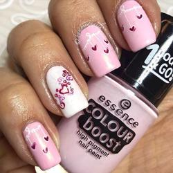 Valentines Manicure 2 - Step By Step stamping nail art