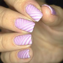 Slanted Lines Design - Step By Step nail art
