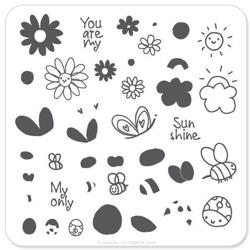 SunShine (CJS-35) - Stampingplade, Clear Jelly Stamper