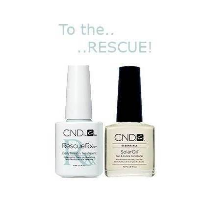 CND Rescue RXx Daily Keratin Treatment + Solaroil 15 ml