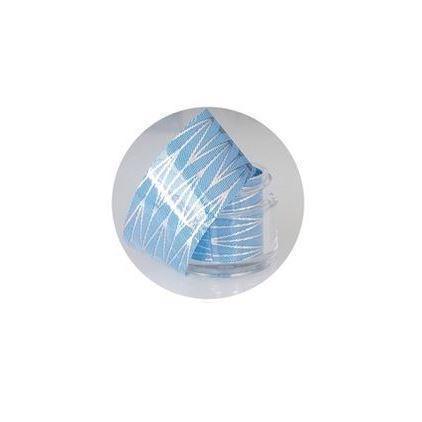 Image of Neglefolie, Blå med sølv striber
