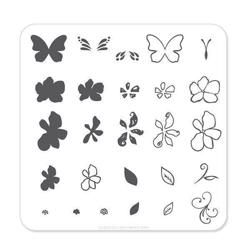 Flower & Butterfly (CjS-01) - Stampingplade