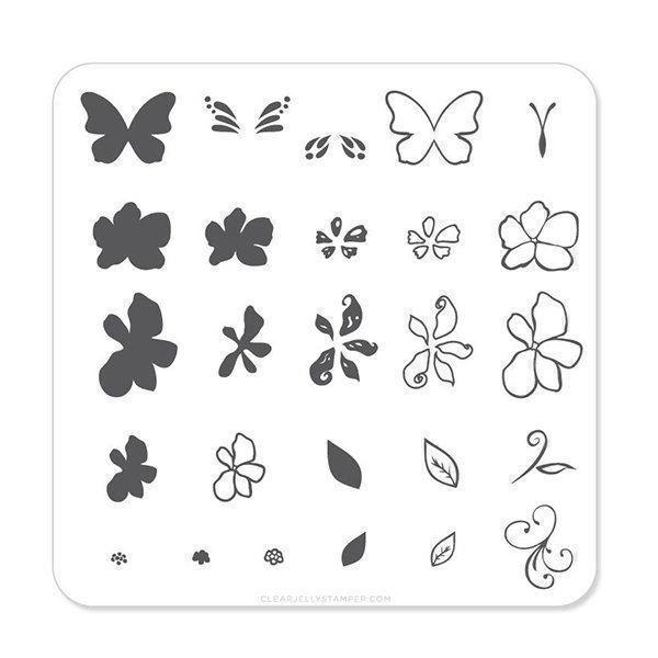 Image of   Flower & Butterfly (CjS-01) - Stampingplade