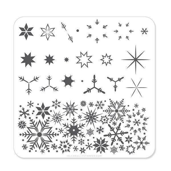 Image of   Snowflakes (CjS-03) - Stampingplade