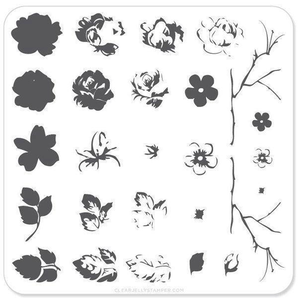 Image of   Renaissance Rose (CjS-05) - Stampingplade
