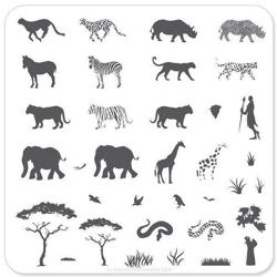 Out of Africa (CjS-15), Clear Jelly Stamper, stampingplade