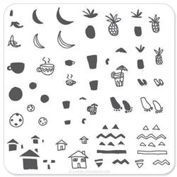 Summer Drinks (CjS-20), Clear Jelly Stamper, stampingplade