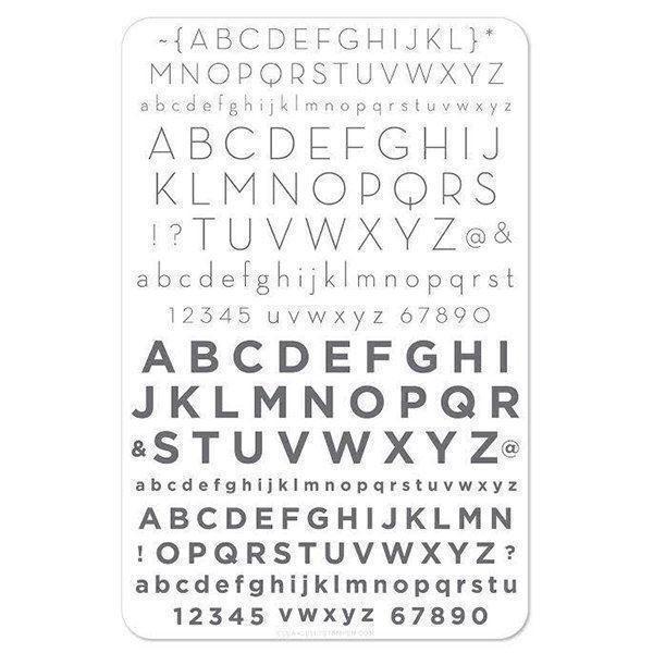 Image of   Alphabet - Modern (CjS-42)