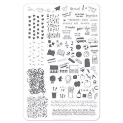 Back To School - Primary (CjS-43) - Stampingplade, Clear Jelly Stamper