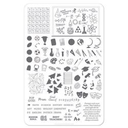 Back to School - Scholastic (CjS-42) - Stampingplade, Clear Jelly Stamping