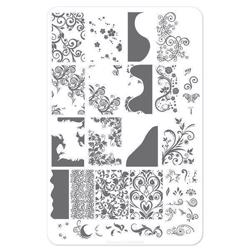 Sweet Swirls - (CjS-48) Stampingplade, Clear Jelly Stamper