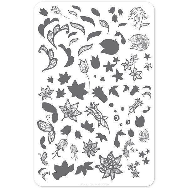 Petals of Lace -  (CjS-50) Stampingplade, Clear Jelly Stamping