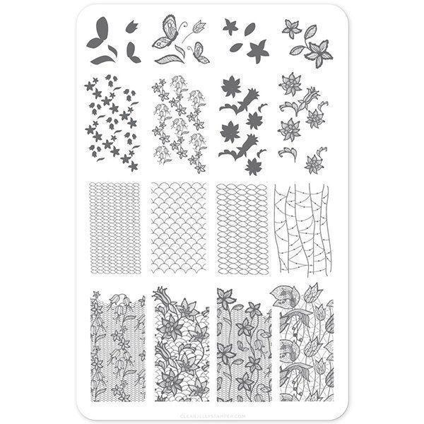 Feeling Lacy - (CjS-51) Stampingplade, Clear Jelly Stamper