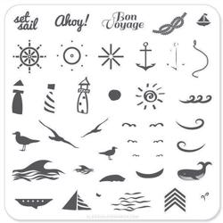 By the Sea (CjS-6), Clear Jelly Stamper, stampingplade