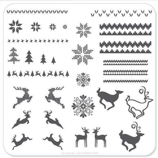 Christmas Sweater (CjSC-02), Clear Jelly Stamper, stampingplade