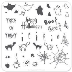 Trick & Treat Halloween (CjSH-04), Clear Jelly Stamper, stampingplade