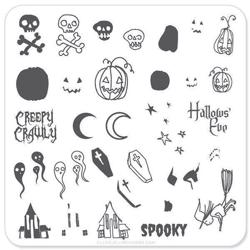 Spooky Halloween (CjSH-05), Clear Jelly Stamper, stampingplade