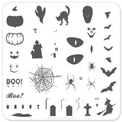 Boo Halloween (CjSH-06), Clear Jelly Stamper, stampingplade